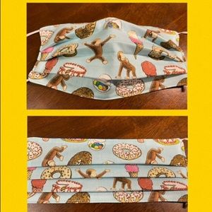Curious George face mask cover 3 LAYER